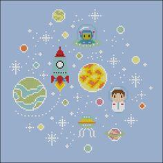 Oh SpaceBoy Cross stitch PDF pattern by cloudsfactory on Etsy