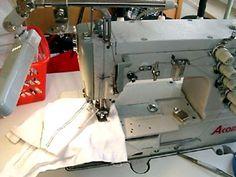 Eine Covermaschine, ein MUSS um Jerseystoffe zu kürzen und zu ändern.