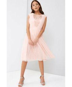 02f9570dc88600 Sukienka Pudrowy Róż Rozkloszowana Little Mistress Secret Wish Boutique-2
