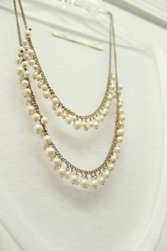 Two Strands of Pearls Neacklace - $42