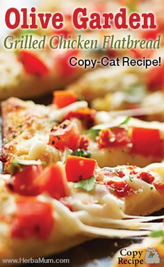 Best olive garden copycat grill chicken flatbread pizza recipe on pinterest for Olive garden chicken flatbread