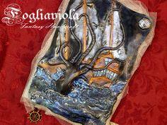 My new Kraken Journal. Available now on FOGLIAVIOLA.COM !    #kraken #octopus #piovra #polipo #mostro #mare #sea #seajournal #seamonster #horror #cthulhu #marine #krakenbook #handmade #boat #abyss #abisso #goth #obscure #pirate #pirata #piratejournal #fogliaviolastyle