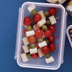 Snack skewers are easy to make, easy to transport and easy to eat! #snacks