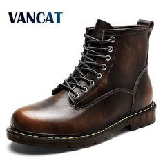 8269e93bbf32d Mens Winter Boots, Winter Shoes, Ski Boots, Lace Up Combat Boots, Riding