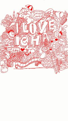 I love you icha. Dodle art by me