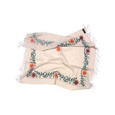 Бежев�‹й платок с в�‹шивкой, 90х90, Pashmina's World : To-Dress.Ru :... ❤ liked on Polyvore featuring accessories, scarves, fillers, infinity scarves and shawl