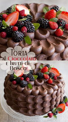 Torta al cioccolato e frutti di bosco Tart Recipes, Dessert Recipes, Chocolates, Italian Cake, Mousse, Cake & Co, Christmas Chocolate, Drip Cakes, Summer Desserts