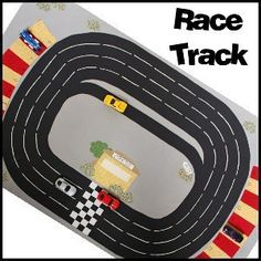 Toy Car Town Racetrack This would be good at the cabin for the kids Toy Race Track, Race Tracks, Sewing Crafts, Sewing Projects, Sewing Toys, Sewing Tutorials, Book Libros, Super Sport Cars, Busy Bags