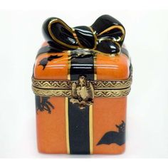 Limoges Boxes from Limoges France - Halloween Gift Wrap Limoges Box [GR-1703] found on Polyvore