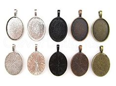 20 CleverDelights Oval Pendant Trays – Mix Pack – 18 x 25 mm Review
