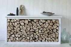 Modified dresser holds firewood in a stylish, sleek way | California Home + Design