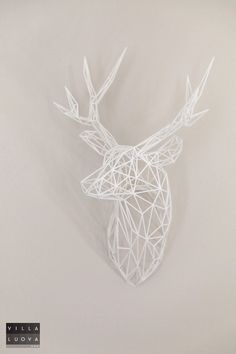 3D Printed stag head