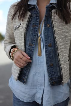 Natalie, from Natalie Dressed, in her favorite sweet & spark #vintage #tassel #necklace!