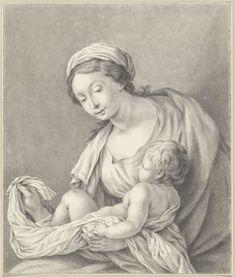 Maria met kind, Abraham Delfos, Simon Vouet, 1741 - 1820