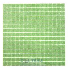 green kitchen backsplash - glass tiles