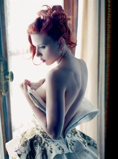 Scarlett Johansson photographed Mario Sorrenti for Vanity Fair, December 2011