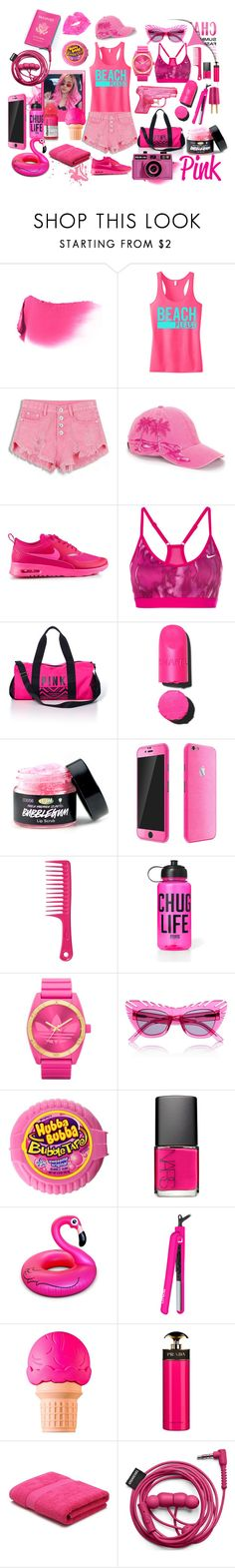 """Crazy Pink World 2"" by liddy-white ❤ liked on Polyvore featuring Yves Saint Laurent, NIKE, Victoria's Secret PINK, Chanel, Passport, Evolve, adidas, House of Holland, NARS Cosmetics and BigMouth"