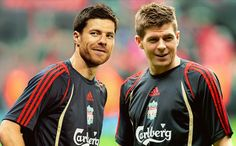Steven Gerrard and Xabi Alonso~ greatest bromance in football history Liverpool Champions, Fc Liverpool, Liverpool Football Club, European Men, European Soccer, Xabi Alonso, This Is Anfield, Steven Gerrard, Football S