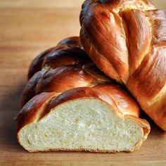 Challah bread - great recipe! I just bake it in a regular loaf pan. Use it to make french toast from Cooks Illustrated - amazing combination!