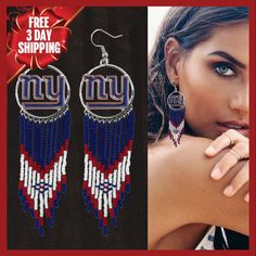 Officially Licensed New York Giants Dreamcatcher Earring