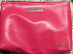 """Large Pink Soft Vinyl Cosmetic Bag from Beauticontrol - 12"""" X 9"""" X 4"""" #BeautiControl #CosmeticBags"""