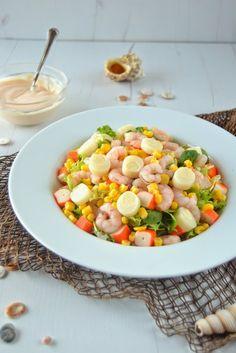 ENSALADA TROPICAL Salad Dressing, Cobb Salad, Food Porn, Food And Drink, Healthy Recipes, Vegetables, Cooking, Desserts, Tropical