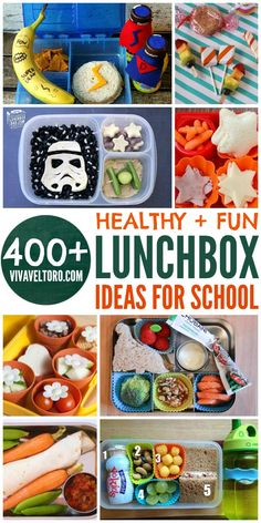 Over 400 healthy and fun lunchbox ideas and inspiration for kids! Perfect for back to school!