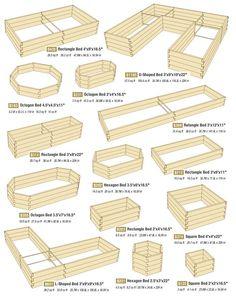 Raised bed gardening layouts