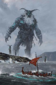 at the edge of the world – fantasy concept by Jakub Rozalski