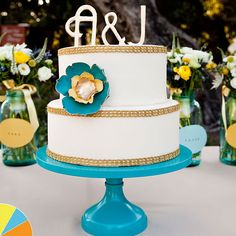 Brides.com: . Cake by Flours