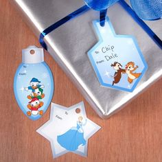 Disney Hanukkah gift tags add a little extra fun to the party!