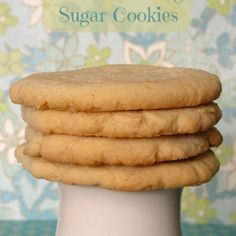 Vanilla Pudding Sugar Cookies *