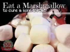 Marshmallows will Cure a Sore Throat! This Works! this is a website that tries stuff on Pinterest and sees if it really does what it claims.  Cool site!