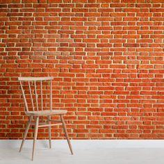 wall Murals Rustic - Bright Red Rustic Brick Wall Mural MuralsWallpaper co uk. Faux Brick, Exposed Brick, Brick Design, Wall Design, Diy Projects Headboards, Brick Wallpaper Mural, Palette Wall, Mirror Wall Collage, Brick Texture