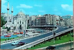 Aksaray square and Valde mosque,Istanbul,Turkey