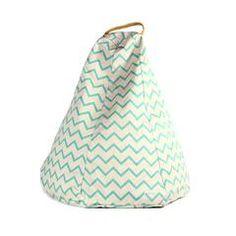 Bean Bag / Pouffe . Marrakech - Zig Zag Green
