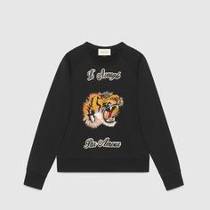 Cotton sweatshirt with tiger