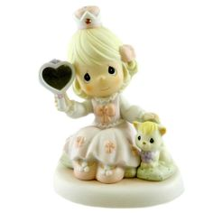 Precious Moments Love Is Reflected In You Figurine Height: 5.5 Inches Material: Porcelain Type: Figurine Brand: Precious Moments Item Number: Precious Moments 385 Catalog ID: 12936 New With Box. Yearl