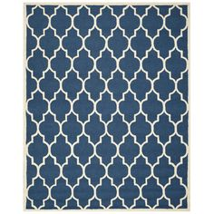Varick Gallery Martins Navy & Ivory Area Rug Size: 6' x 9'