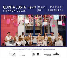 Anote aí! Na próxima Quinta tem a Ciranda delas, na Quinta Justa da Casa da Cultura Paraty Cultural. Venha prestigiar e dançar! Compartilhe Cultural!  #CasaDaCultura #CasaDaCulturaParaty #exposição #fotografia #música #cultura #turismo #arte #VisiteParaty #TurismoParaty #Paraty #PousadaDoCareca #ParatyCultural #PartiuBrasil #MTur #boatarde #boatardee #bomdia #boanoite #QuintaJusta #CirandaDelas