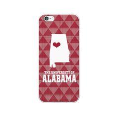 University of Alabama White Phone Case, State V1- iPhone 6/6S