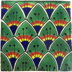 "Hand Painted Decorative Tiles Entrancing 4"" X 4"" Talavera Handpainted Mexican Tilesplease Note Your Item Inspiration Design"