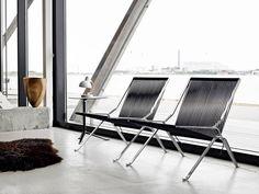 #PoulKjærholm diseñó la imitada #PK25 para #FritzHansen. La silla escultórica está realizada con un sólo marco de aluminio y una simple cuerda.