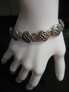 Vintage Brighton Silver Tone Heart Bracelet by CLASSYBAG on Etsy