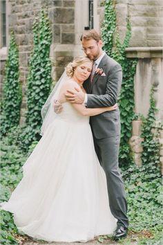 Classic Peach and Gray Wedding