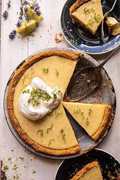 Double Stuffed Vanilla Key Lime Pie | halfbakedharvest.com Chocolate Chip Cookie Pie, Dessert Crepes, Biscotti, Summer Pie, Pie Tops, Half Baked Harvest, Key Lime Pie, Le Diner, Tart Recipes