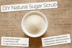 DIY Sugar Scrub recipes