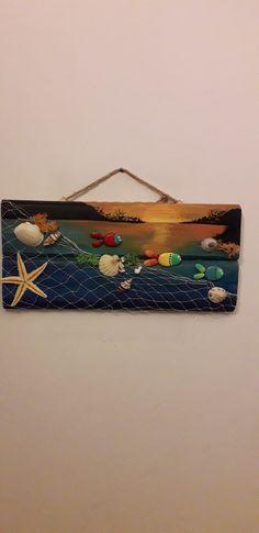 En sevdiğim Sea Crafts, Burlap Crafts, Seashell Crafts, Decor Crafts, Diy And Crafts, Arts And Crafts, Craft Kits For Kids, Stone Crafts, Mural Art