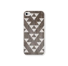 Geometric iPhone 5 Case - Plastic iPhone 5 Cover - Triangle Wood Tribal Southwest iPhone 5 Skin - White Brown Cell Phone For Him  18