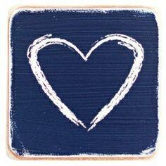 Wooden Magnet Heart